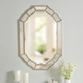 "Link to Jude 36-inch Antique Mirror and Champagne Wall Mirror - 36""x 24"" Similar Items in Mirrors"
