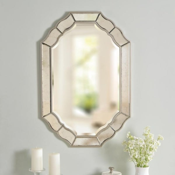 "Jude 36-inch Antique Mirror and Champagne Wall Mirror - 36""x 24"""