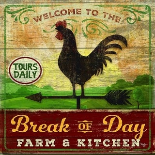 Decorative Wall Sign- Break of Day Rooster