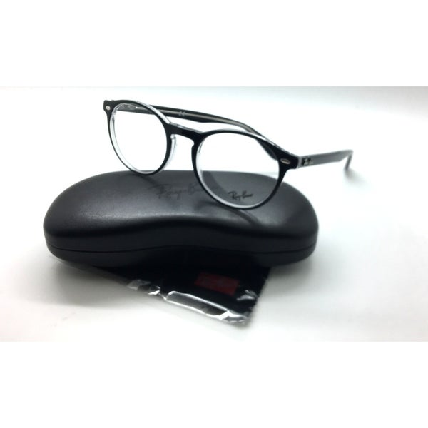 c616796b1b Shop Ray Ban Black Clear 51mm Round Frames Eyeglasses Frame RB 5283 ...