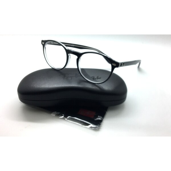 Shop Ray Ban Black Clear 51mm Round Frames Eyeglasses Frame RB 5283 ...