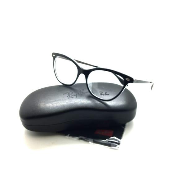 2218f70b163 Shop Ray Ban Black On Clear Cateye eyeglasses Frame 5360 F 2034 54MM ...