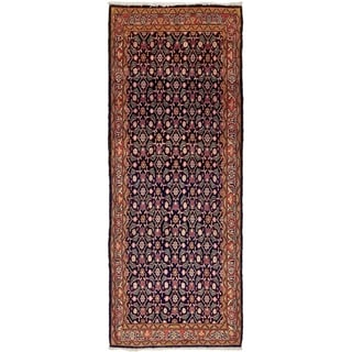 Hand Knotted Farahan Semi Antique Wool Runner Rug - 3' 3 x 9'