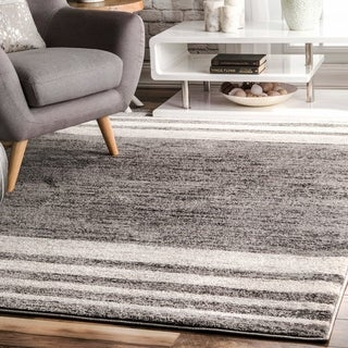 nuLOOM Grey Modern Transitional Homely Striped Area Rug