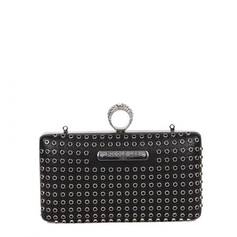 Nicole Lee Eyelet Knuckle Ring Handle Clutch