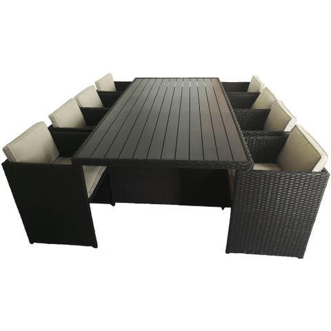 Cabo 9 Piece Rectangular Dining Set with Cushion Cabo 9 Piece Rectangular Dining Set with Cushion