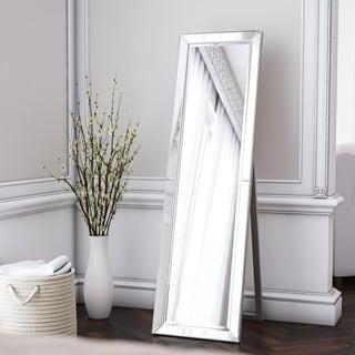 """Beckett 64-inch Silver Stand Mirror - 64"""" x 18"""""""
