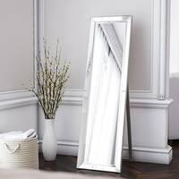 Beckett 64-inch Silver Stand Mirror