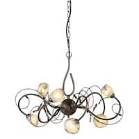 Montalvo Utah Halogen 6-Light Chandelier in Bronze