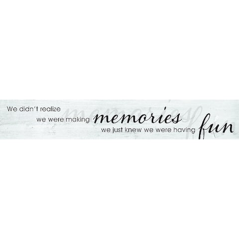 Decorative Wall Sign- Memories
