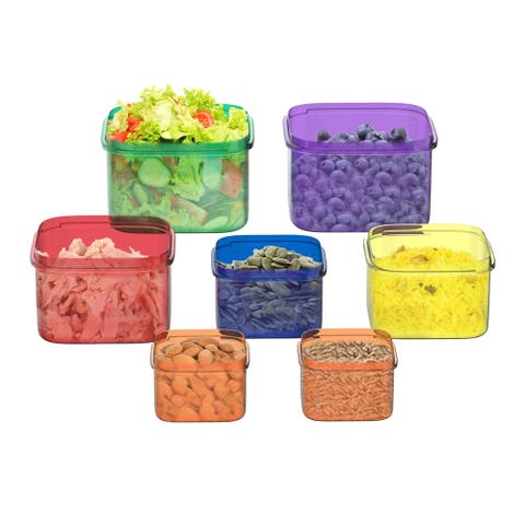 Portion Control Containers- 7 Piece Color Coded Set by Classic Cuisine - Multiple