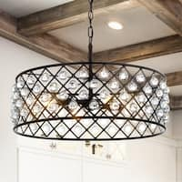 "Gabrielle 23"" Crystal/Metal LED Pendant, Oil-Rubbed Bronze by JONATHAN  Y"