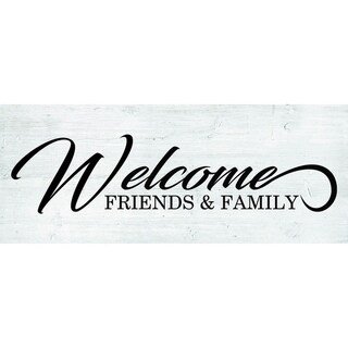 Decorative Wall Sign- Welcome Friends & Family