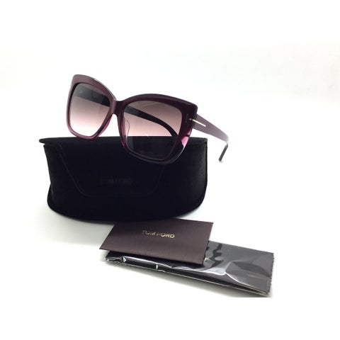 Tom Ford Butterfly TF 390 80b Irina Purple Square Gradient Sunglasses