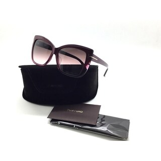 Tom Ford Butterfly TF 390 80b Irina Purple Square Gradient Sunglasses