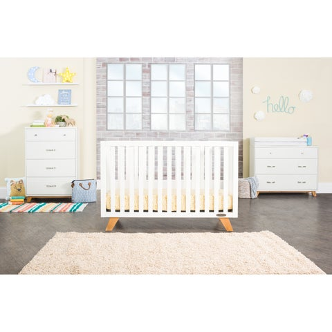 Forever Eclectic SOHO 4-in-1 Convertible Crib, White/Natural - N/A