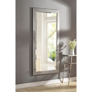 Asher 63-inch Brushed Steel Leaner Mirror