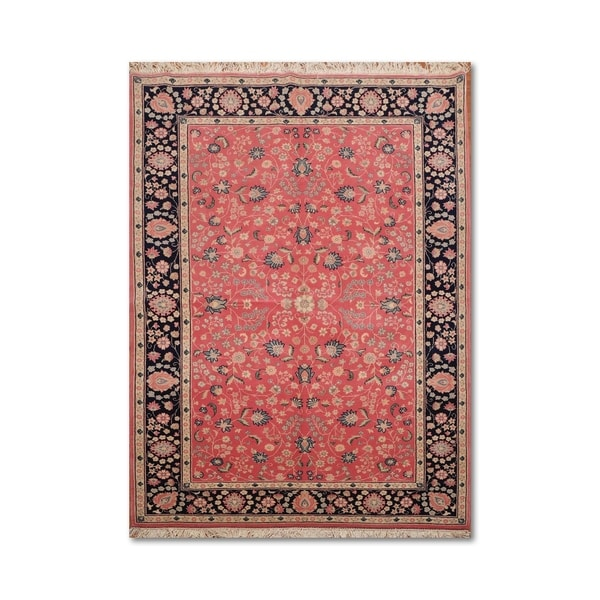 Shop Classical Kashan Medallion Hand Knotted Persian Wool: Shop Floral Kashan Romanian Hand-Knotted Persian Oriental