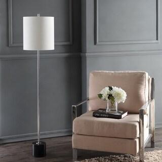 "Levitt 60.5"" Marble/Metal LED Floor Lamp, Black/Chrome by JONATHAN Y"