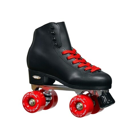 Epic Classic Black & Red High-Top Quad Roller Skate