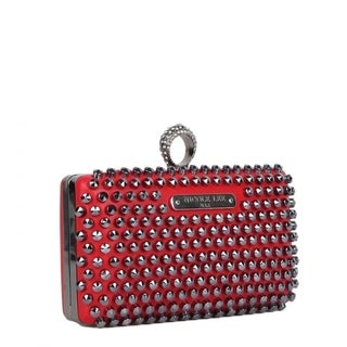 Nicole Lee Knuckle Ring Handle Studded Clutch