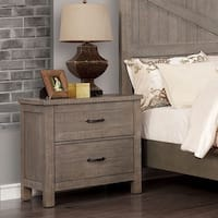 Willow Rustic USB 2-drawer Nightstand by FOA