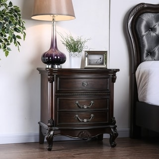 Link to Gracewood Hollow Narekatsi Espresso USB 3-drawer Nightstand Similar Items in Bedroom Furniture