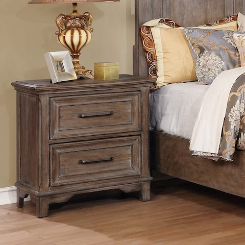 Copper Grove Bjelovar Traditional Rustic Oak USB 2-drawer Nightstand