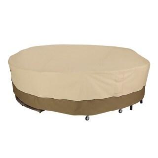 "Veranda Round General Purpose Patio Furniture Cover - fits patio furniture groupings 128""dia x 30""h"