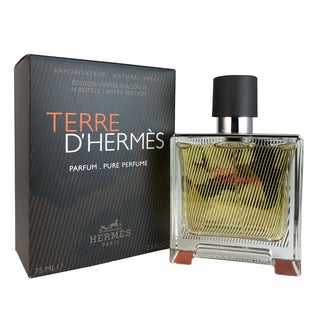 Hermes Terre D'hermes Men's 2.5-ounce Pure Perfume Spray Limited Edition