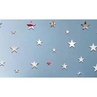 Silver & Gold Mirror Star Wall Decals