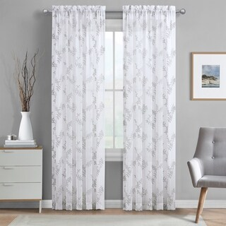 Five Queens Court Fortuna Embroidered Window Sheer Panel