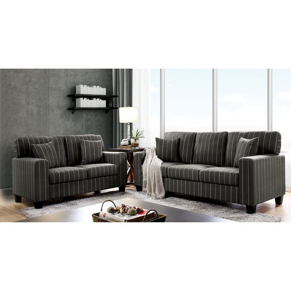 Wondrous Shop Copper Grove Ugarchin Pin Stripe Loveseat On Sale Alphanode Cool Chair Designs And Ideas Alphanodeonline