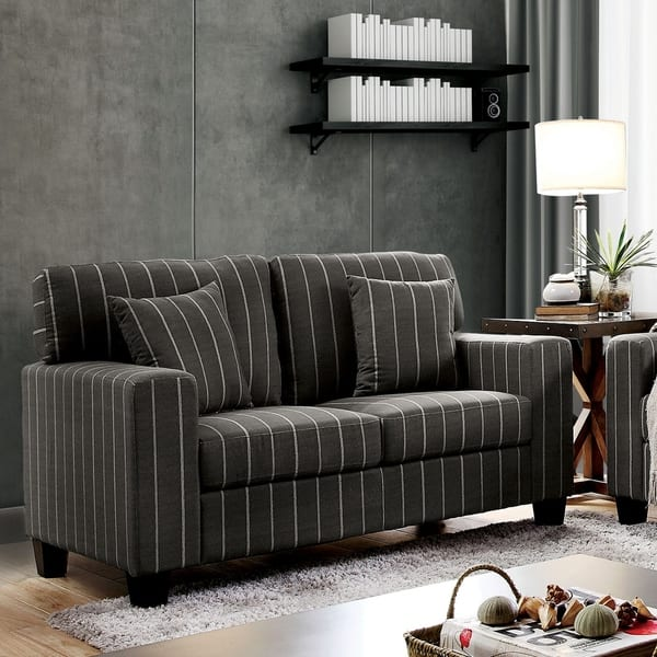 Marvelous Shop Copper Grove Ugarchin Pin Stripe Loveseat On Sale Alphanode Cool Chair Designs And Ideas Alphanodeonline