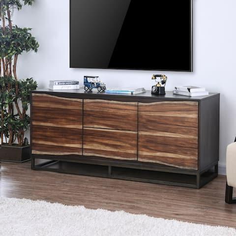 Ballard Industrial 64-inch Dark Oak Live Edge TV Stand by FOA