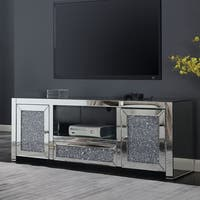 Furniture of America Aarika Glam Mirrored TV Stand