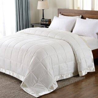 Downluxe Lightweight Down Alternative Blanket with Satin Trim