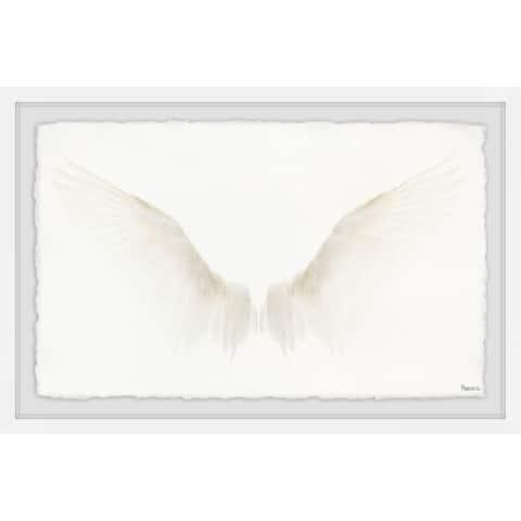 Marmont Hill - Handmade White Wings Framed Print