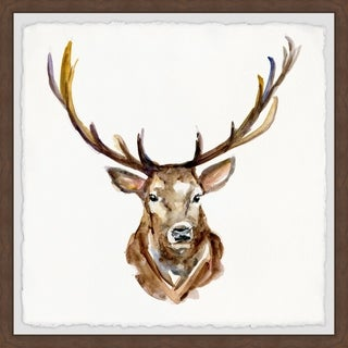 Link to Marmont Hill - Handmade Buck Face Framed Print Similar Items in Art Prints