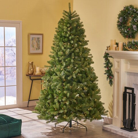"Noel Christmas Tree 7.5' by 59"" Pre-Lit Mixed Spruce by Christopher Knight Home"