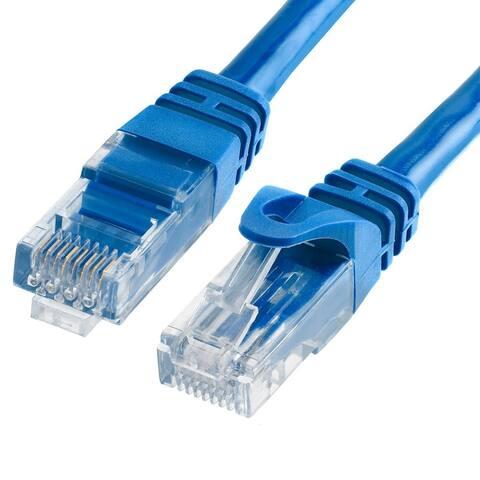 Cmple Cat6 500MHz UTP Ethernet LAN Network Cable, Blue - 100 Feet
