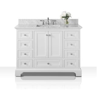 Ancerre Designs Audrey Vanity Set with Carrara White Marble Top