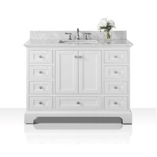 Ancerre Designs Audrey Vanity Set with Carrara White Marble Top