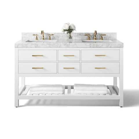 Ancerre Designs Elizabeth Vanity Set with Carrara White Marble Top