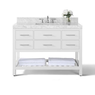 Ancerre Designs Elizabeth Vanity Set with Carrara White Marble Top