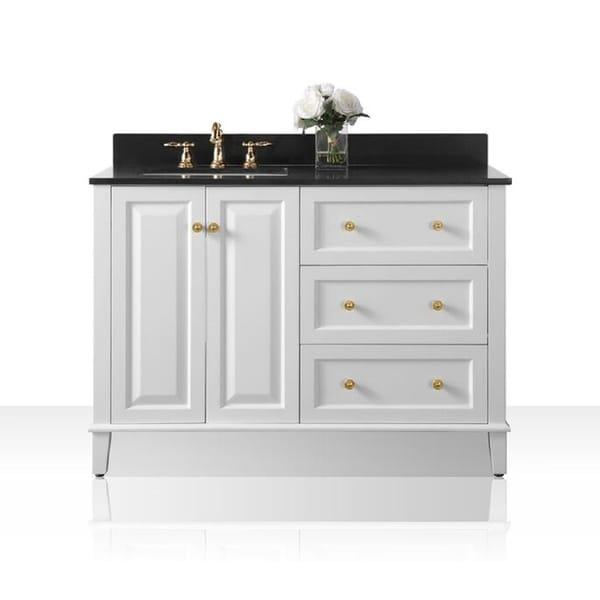 Shop Ancerre Designs Hannah White Birchwood 48 Inch Vanity With