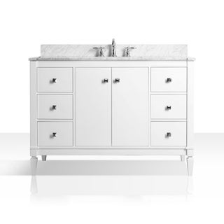 Ancerre Designs Kayleigh Vanity Set with Carrara White Marble Top