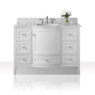 Ancerre Designs Lauren Vanity Set with Carrara White Marble Top