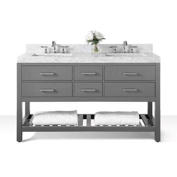 Shop Ancerre Designs Elizabeth Sapphire Grey Vanity With Carrara