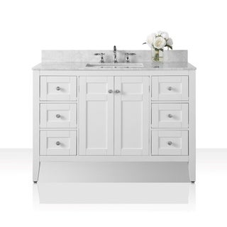 Ancerre Designs Maili Vanity Set with Carrara White Marble Top